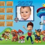 Fotomontaje de Calendario 2017 Paw Patrol
