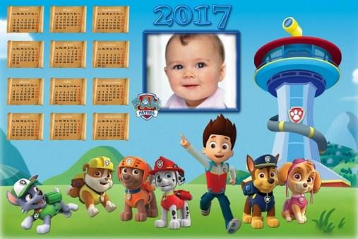 fotomontaje-de-paw-patrol-calendario-2017-marcos-infantiles-almanaques-2017-marcos-de-apw-patrol-almanaque-con-foto-infantiles-calendarios-infantiles-2017-paw-patrol