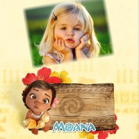 Marco infantil de Moana Bebé para editar con tu foto