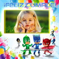 Marco de Feliz Cumpleaños con PJ Masks
