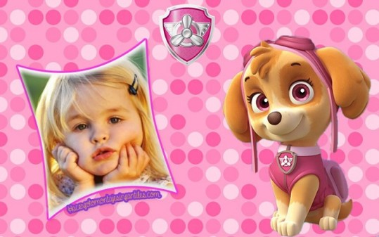 Skye Paw Patrol photo frames
