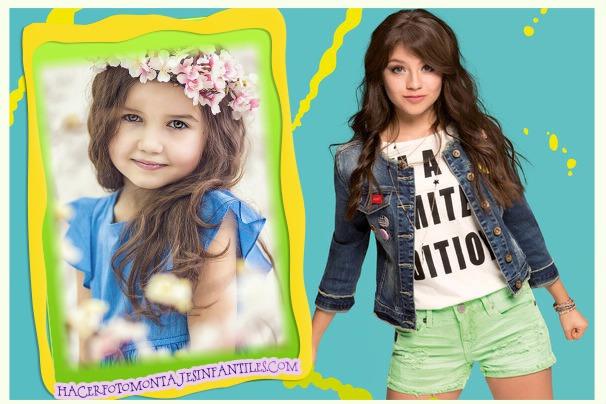 Marco De Soy Luna 2 Fotomontajes Infantiles