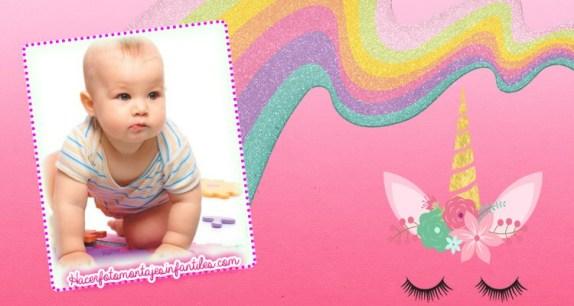 Unicornios fotomontajes infantiles