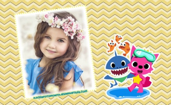 Marcos infantiles baby shark - marcos infantiles online - marcos para fotos gratis