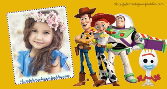 Woody y Buzz editar fotos - Forky toy story photo frames