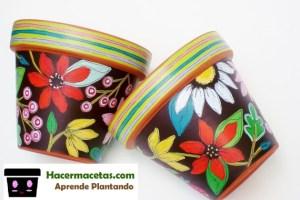 macetas decoradas con estapados