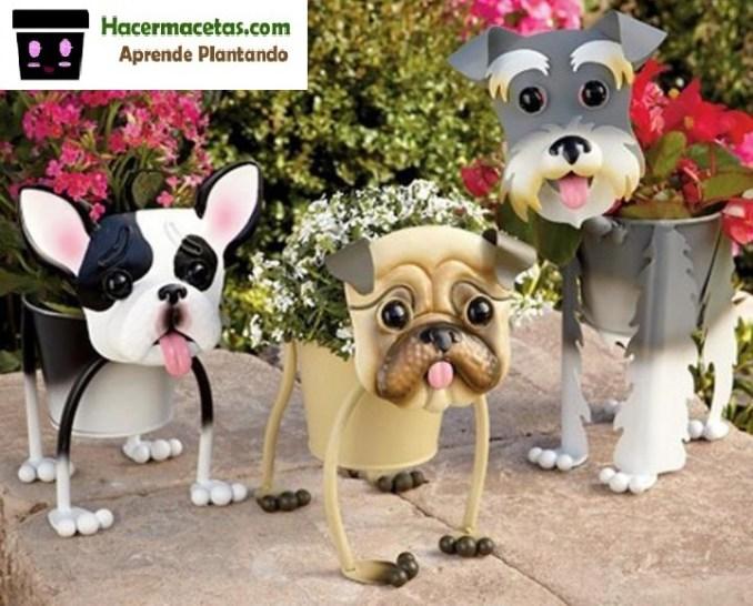 modelos de macetas de hierro en forma de mascotas
