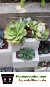 decoracion del jardin con bloques de concreto