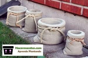 macetas hechas a mano con cemento