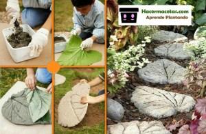 pasos para elaborar tu camino de hojas de cemento