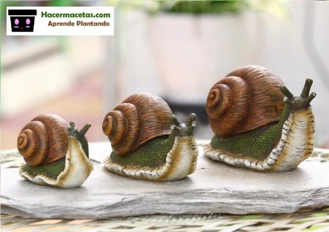 caracoles falsos para jardín