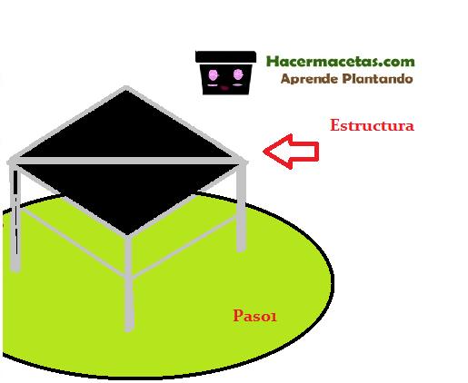 paso numero 1 acondicionar la estructura