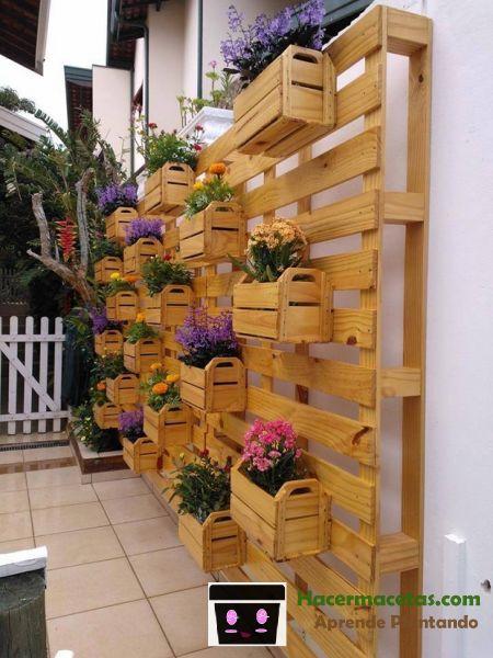Maceteros de Madera para jardines verticales. las mejores ideas para ti