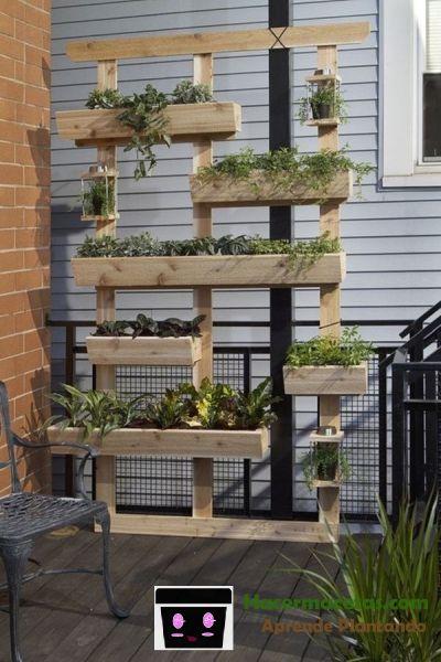 maceteros de madera para el jardin