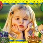 Marco de fotos para 1er cumpleaños