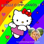 Marco de Cumpleaños con Kitty
