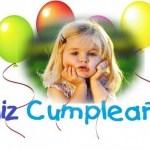 Marco para cumpleaños con globos