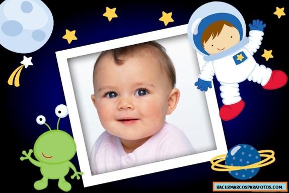 Marco de astronauta para fotos