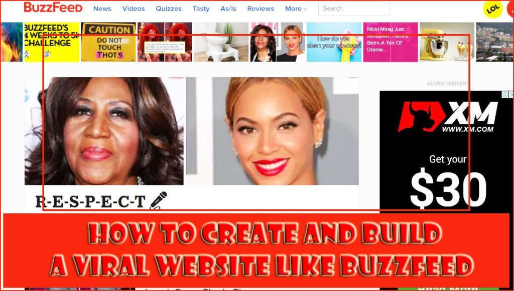 how to build a website like buzzfeed