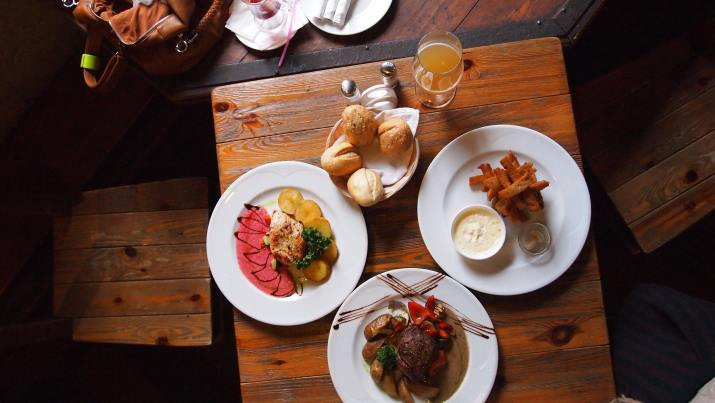 Food at a restaurant