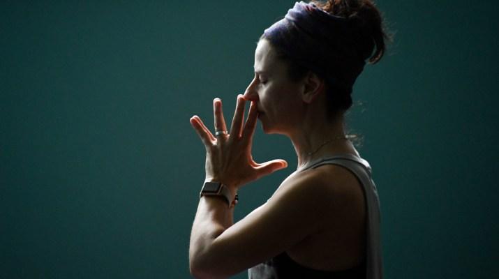 Breathing during yoga