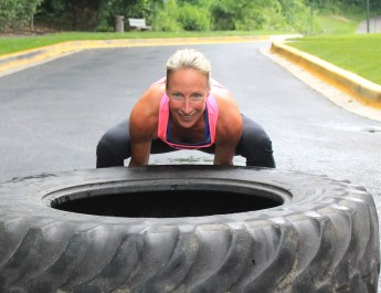 Kelly Horowitz flipping tire