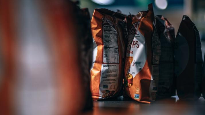 Chips on shelf