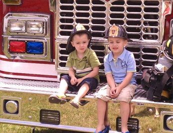 In the Community: Showing Love for the Fire Company with Ice Cream