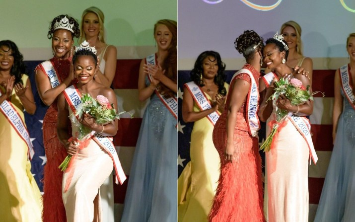 Mus being crowned at the Mrs. Delaware America Pageant in August, 2020