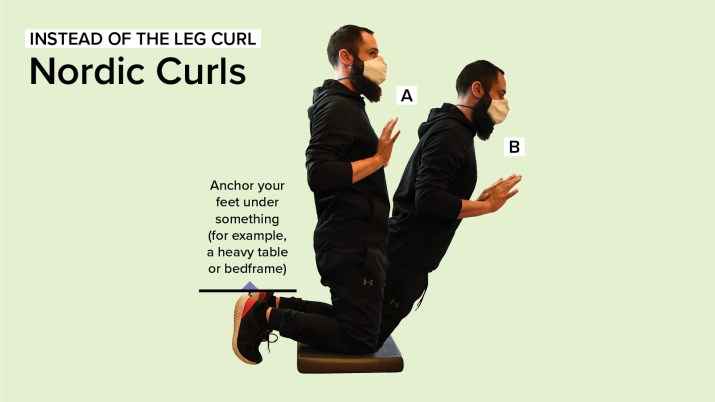 Personal Trainer Dewey Lightcap demonstrating how to perform Nordic Curls
