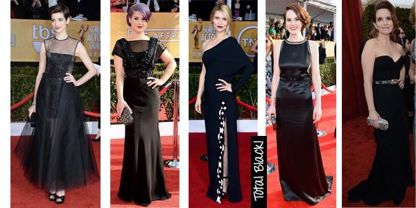 sag awards black dresses 2013