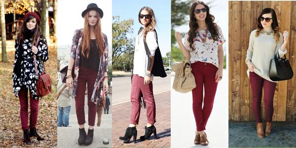 burgundy pantalon borgoña