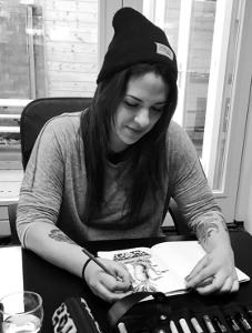 Amsterdam tattoo artist Bonsuelo