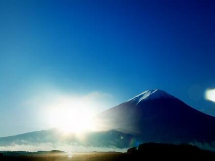 富士山から見える初日の出