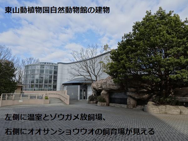 東山動植物園自然動物館の建物
