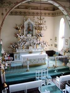 Vista del interior de la capilla de San José en la Hacienda Villejé.