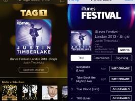 Kostenloses Album von Justin Timberlake in der iTunes 12 Tage Geschenke App, Hack4Life, Fabian Geissler