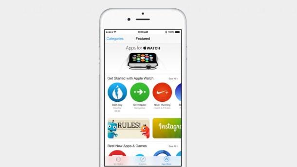 Der AppleWatch AppStore in der Apple Watch App auf dem iPhone unter iOS 8.2, Hack4Life, Fabian Geissler, Apple, San Francisco, iOS 8.2
