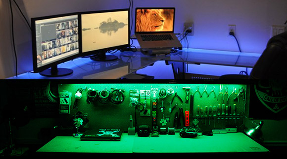 lighting up a workspace twofer hackaday