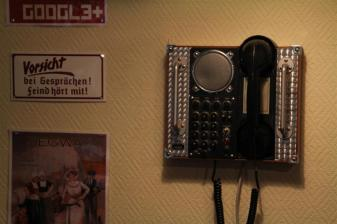 The place is covered in retro phones -- and they all work.