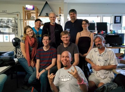 The CrashSpace crew with Mike