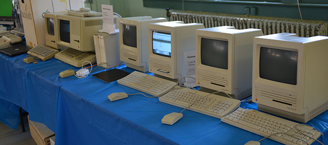 From left to right, a Mac ED, Lisa, prototype SE, and the rest are stock SEs.