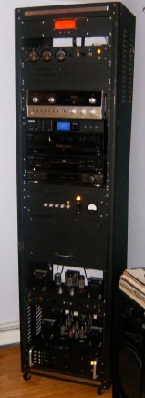 Photo of vacuum tube home theater system.