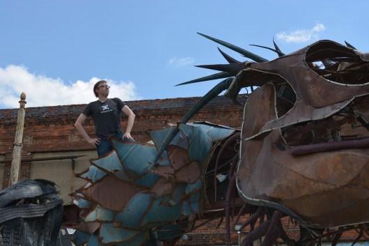 Brian training his dragon
