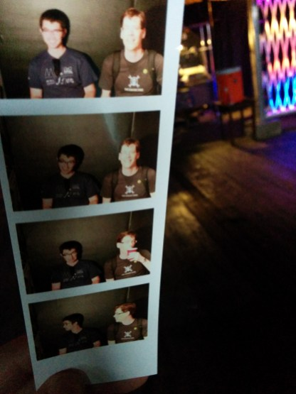 Chris and Mike tried out the Omnicorp Photobooth which prints out your photos