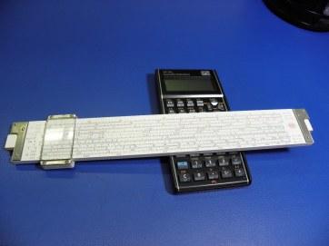 Analog slide rule on digital calculator