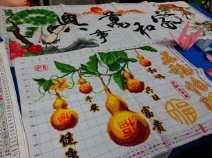 Intricate Chinese cross-stitchery