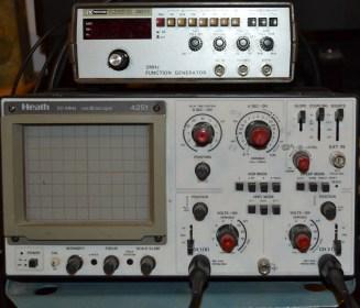 Heath Zenith scope and BK function generator