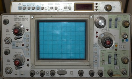 My Heath-Zentih scope with a BK function generator, have been very reliable and useful for nearly two decades. A Tek 468, work-horse analog and digital storage (dual mode) scope.