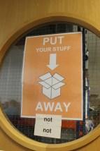 Put your stuff away